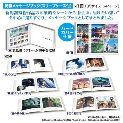 新海誠監督デビュー15周年記念メッセージブック付 フレーム切手セット