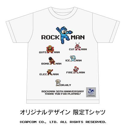 「ロックマン」 30周年記念フレーム切手セット (TシャツMサイズ、白)