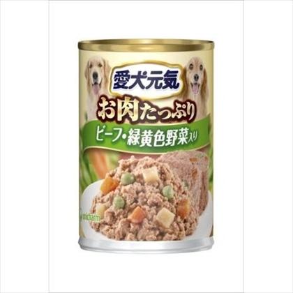 愛犬元気 缶 ビーフ&緑黄色野菜入り 375g