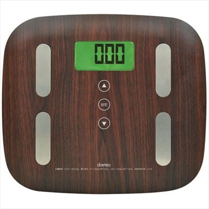 [ネット限定]体重体組成計 BS?244 ダークウッド