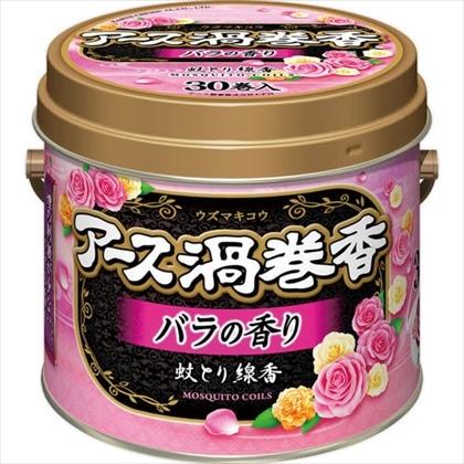 アース渦巻香 バラの香り 缶入 30巻