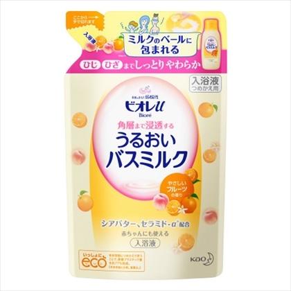 ビオレu 角層まで浸透する うるおいバスミルク やさしいフルーツの香り つめかえ用 480ml