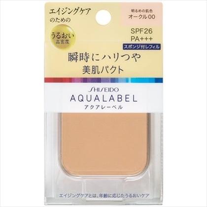 資生堂 アクアレーベル 明るいつや肌パクト オークル00(レフィル) 11.5g