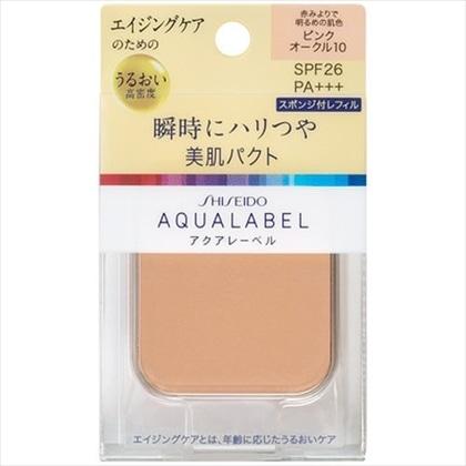 資生堂 アクアレーベル 明るいつや肌パクト ピンクオークル10(レフィル) 11.5g