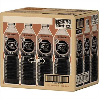 ネスカフェ ゴールドブレンド コク深め ボトルコーヒー 甘さひかえめ 900ml×12本(1ケース)
