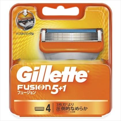 ジレット フュージョン5+1 替刃 4個