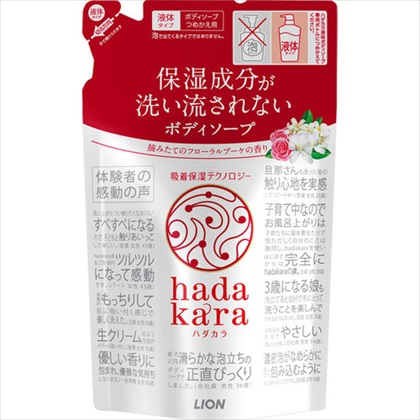 hadakara(ハダカラ) ボディソープ フローラルブーケの香り つめかえ用 360mL