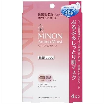 ミノン アミノモイスト ぷるぷるしっとり肌マスク 22ml×4枚