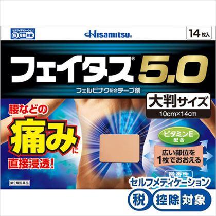 ★フェイタス5.0大判サイズ 14枚・10cm×14cm[第2類医薬品]
