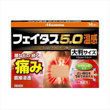 ★フェイタス5.0温感大判サイズ 14枚[第2類医薬品]