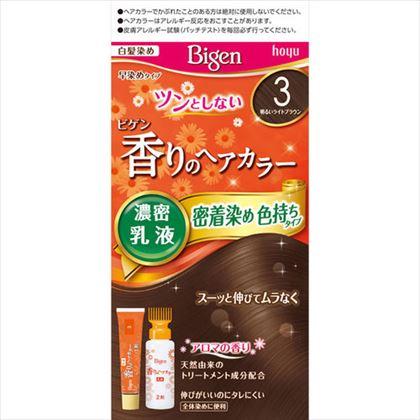 ビゲン 香りのヘアカラー 乳液 3 明るいライトブラウン 1個