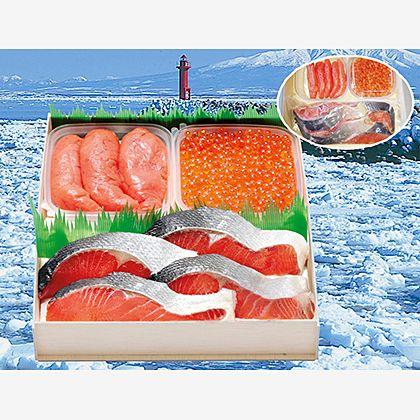 紅鮭・イクラ・タラ子のセット