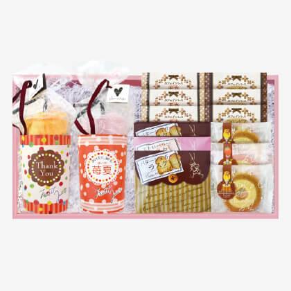 スイーツタオルとカフェ洋菓子セット〜カフェインレス〜(お名入れ)(2) 女の子