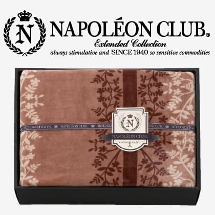 ナポレオンクラブ 北欧調やわらか合わせ毛布S ブラウン