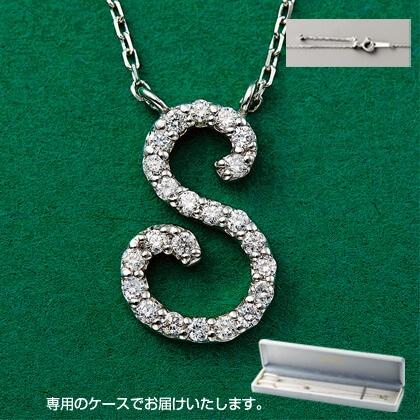 Pt999ダイヤモンドイニシャルペンダント(S)