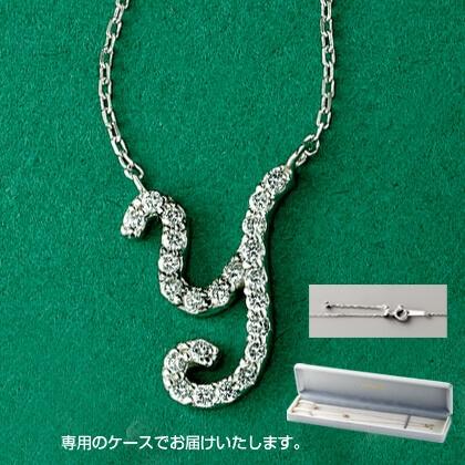 Pt999ダイヤモンドイニシャルペンダント(Y)