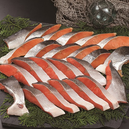 紅鮭・時鮭半身切身詰合せ