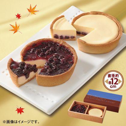 能登半島・ブルーベリーの濃厚チーズケーキ2種