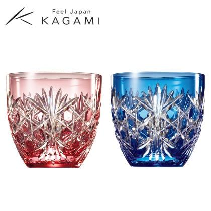 [カガミクリスタル]江戸切子 ペア冷酒杯