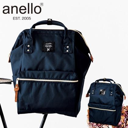 [anello(R)(アネロ)] ポリキャン口金リュック ネイビー