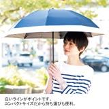 [ロサブラン]折りたたみ晴雨兼用日傘 ネイビー
