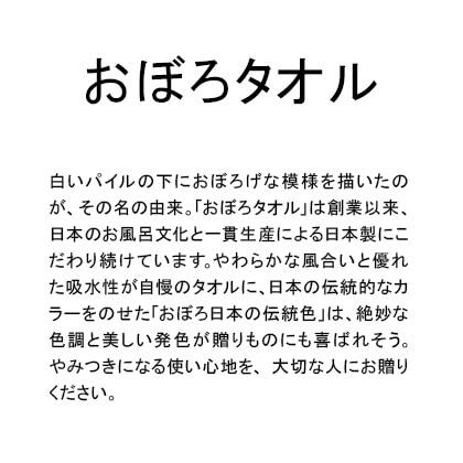 おぼろタオル 日本の伝統色タオルセットB