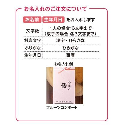 銀座千疋屋 銀座フルーツコンポート(お名入れ)  写真入りメッセージカード(有料)込