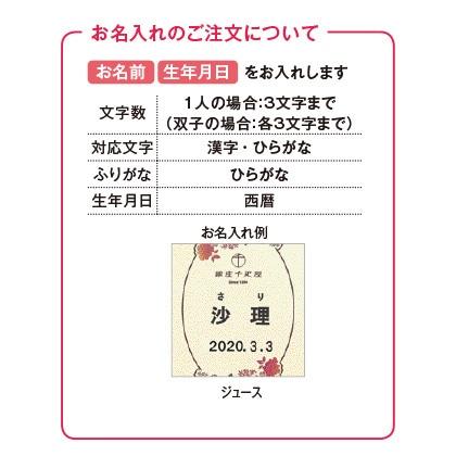 銀座千疋屋 銀座ストレートジュース(お名入れ)  写真入りメッセージカード(有料)込