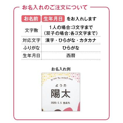 アニマルドーナツ6個入(お名入れ) 写真入りメッセージカード(有料)込