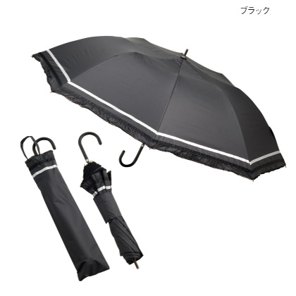 晴雨兼用ショートワイド傘 ブラック