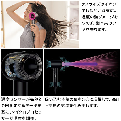 [ダイソン]Supersonic ヘアードライヤー アイアン/フューシャ