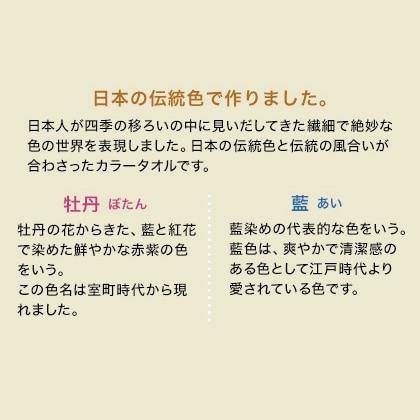 おぼろ日本の伝統色 タオルセットA