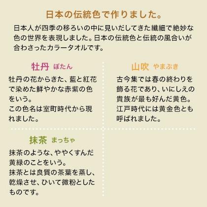 おぼろ日本の伝統色 タオルセットB