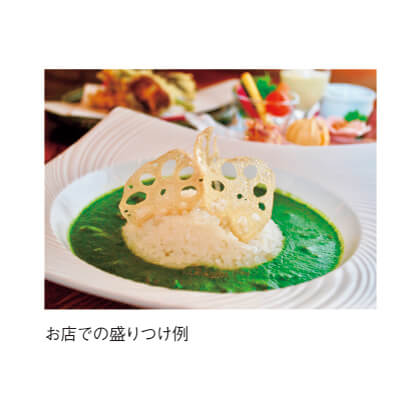 [美味これくしょん神田倶楽部]ほうれん草がうれしいグリーンカレー