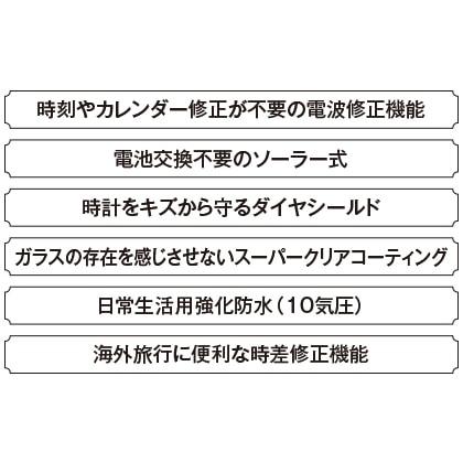 〈セイコー ルキア〉電波ソーラー レディスウォッチ(ネイビー)(16.9cm)