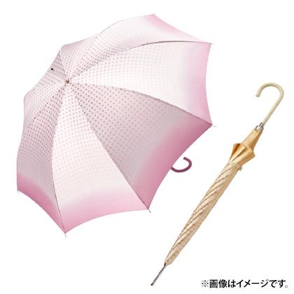 〈ピエール・カルダン〉耐風雨長傘(ベージュ)
