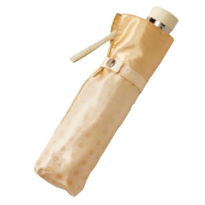 〈ピエール・カルダン〉婦人耐風折りたたみ雨傘(ベージュ)