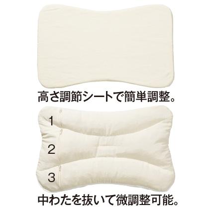 〈necorobi枕〉寝返りフィットタイプ枕(ソフト/ピンク)