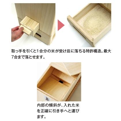 〈竹本木箱店〉総桐計量米びつ(30kg用)