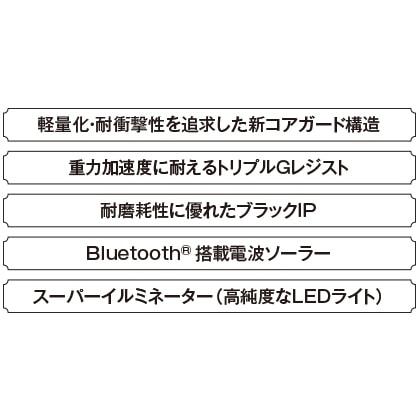〈カシオ〉MT−G Bluetooth(R)搭載電波ソーラーMTG−B1000B−1AJF