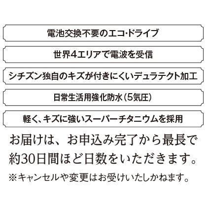 〈シチズン クロスシー〉エコ・ドライブ電波腕時計(ベルト内周16.7cm)