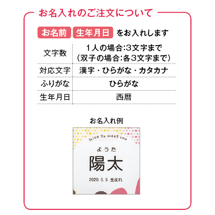 アニマルドーナツ8個入(お名入れ) 写真入りメッセージカード(有料)込【慶事用】