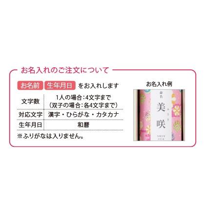 山田園 抹茶どら焼きと静岡茶(お名入れ) ピンク【慶事用】