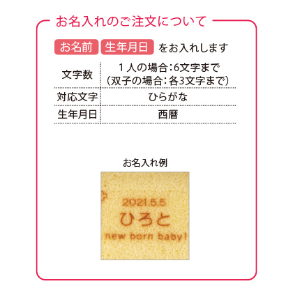 ふっくらしあわせロールケーキC(お名入れ)【慶事用】