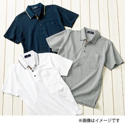 吸汗発散半袖ポロシャツ ネイビー M