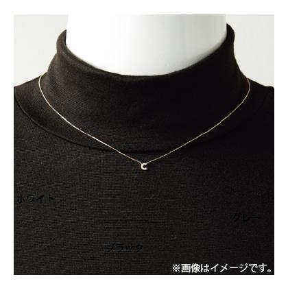 K18ダイヤ入りイニシャルネックレス〈WG〉 K