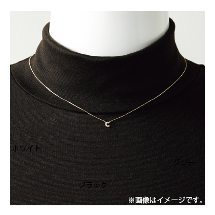 K18ダイヤ入りイニシャルネックレス〈WG〉 T