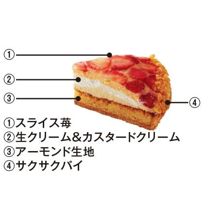 クリームたっぷり苺のタルト