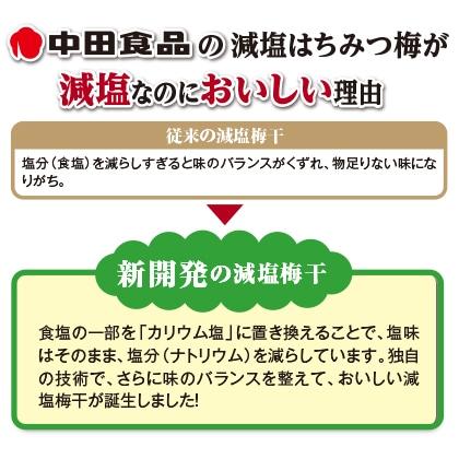 中田食品 減塩はちみつ梅 2箱