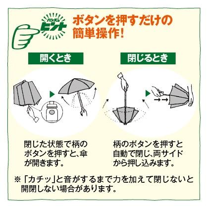 hands+調節式自動開閉折りたたみ傘 50cm(ドット)